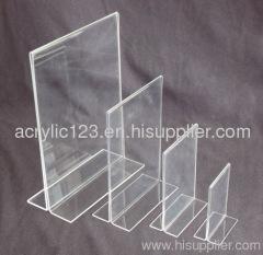 clear acrylic custom menu holder