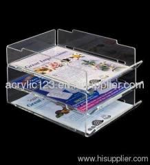 acrylic three tier brochure holder