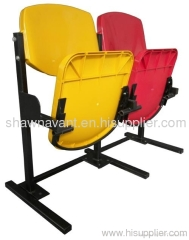 gravity folding fixed seating outdoor or indoor seat footbal