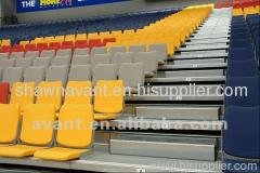 plastic stadium seating folding chair telescopic seating sys