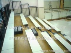 sports tribune bench retractable seating telescopic seating