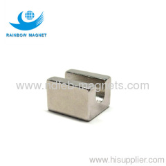 Neodymium magnet with fillister.indentation magnet.