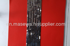 gun black metallic cloth as decorative curtains