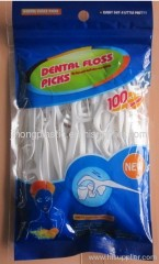 100 pcs.package dental floss picks