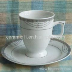 Coffee mug with dish