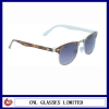 acetate frame with metal on sun glasses in China