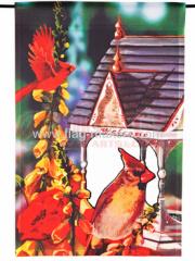 Cardinal house garden flag