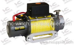 winch with synthetic rope