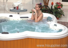 Outdoor easy cleaning hot tub spa