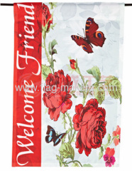 Custom Flowers garden flag