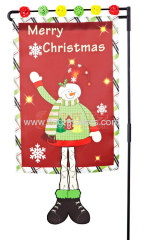 Custom Christmas Snowman garden flag