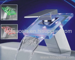 Chrome Waterfall LED Faucet