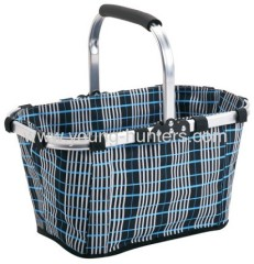 aluminum frame fabric folding shopping basket