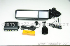 3.5 /4.3inch gps car rearview mirror with blue handfree car kit