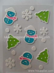 Christmas snowman window stickers