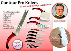 Contour Pro 10PCS Knife / Contour Pro Messen / As seen on TV