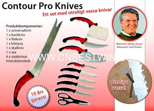 Contour Pro 10PCS Knife/Contour Pro Knives/As seen on TV