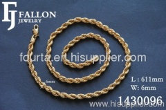 men rope necklace
