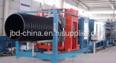 HDPE large diameter hollow wall winding pipe machine