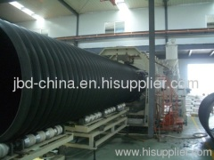HDPE large hollow wall winding pipe extrusion machine