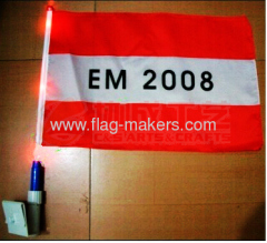 Custom Car flag with LED light