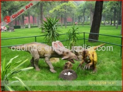Outdoor playground dinosaur model