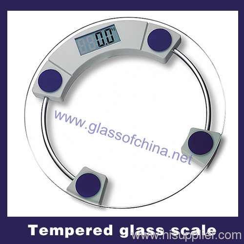 Tempered glass scale