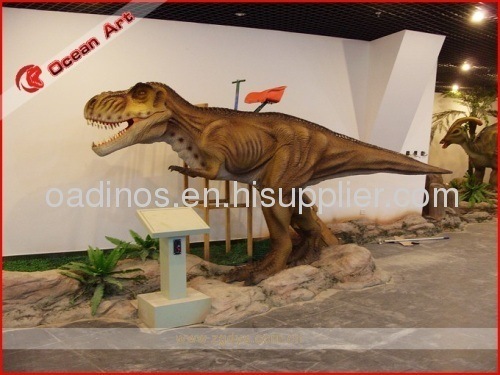 Ridding Animatronic dinosaur model