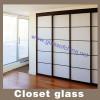 Closet glass wardrobe glass