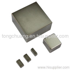 High temperature stability block magnets
