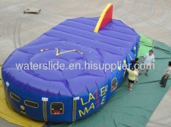 lazer tag maze inflatable maze for kids