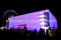 lighting Inflatable Cube Buildings