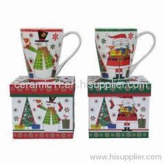 Christmas ceramic mug with gift box