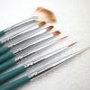 Wooden handle 7pcs Nylon Hair Nail brush set