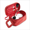 Promotional Red color cosmetic bag with mirror