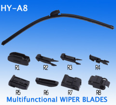 High quality Multifuctional wiper blades with 8 adaptors