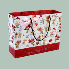 4 color printed paper bag for shopping