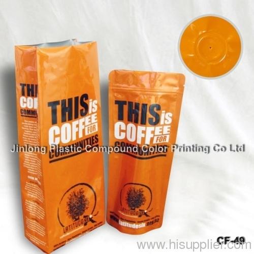 coffee bean plastic bag