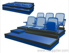 retractable seating,telescopic seating,retractable bleachers,retractable stands