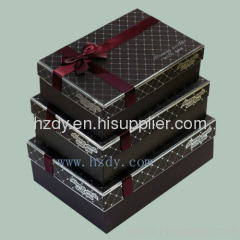 Black paper box for gifts