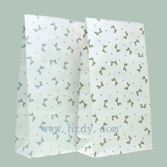 80g white kraft paper bag for food carrier