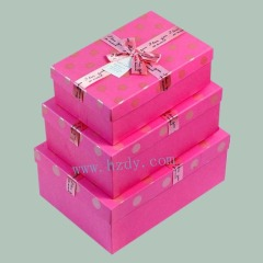 Pink gift paper box 3pcs per set