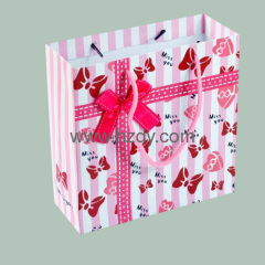 Full color printted paper bag for shopping