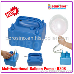 Electric balloon pump for two balloons in side