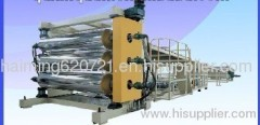 PE, PP, ABS thick board manufacturing machine