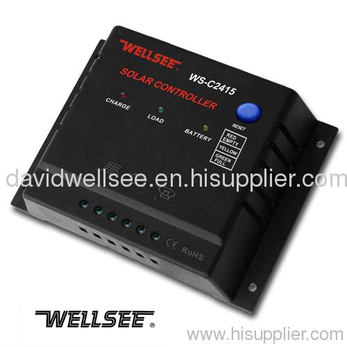 WELLSEE WS-C2415 6A 12/24V solar panel controller