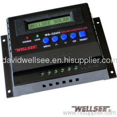 WELLSEE WS-C2430 20A 12/24V battery charger controller