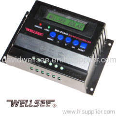 WELLSEE WS-C2430 30A 12/24V solar controller with LCD