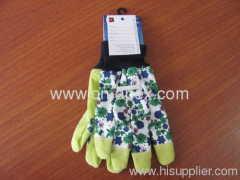 flower glove garden glove cotton glove