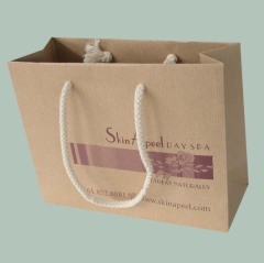 Single color printed brown kraft paper bag